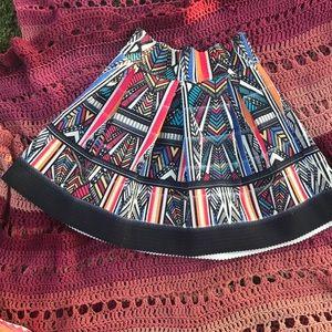 Tribal print high waist skirt.